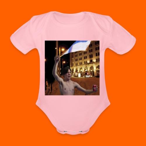 OrangeFullArttu - Vauvan lyhythihainen luomu-body