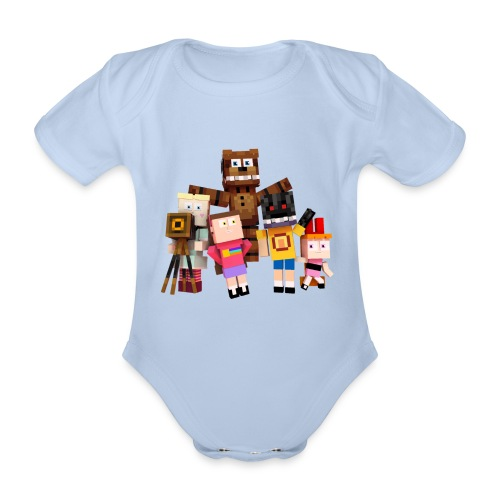 Withered Bonnie Productions - Meet The Gang - Organic Short-sleeved Baby Bodysuit