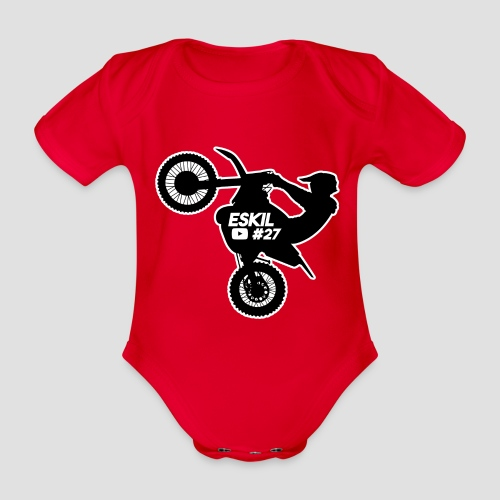Wheelie Summer ESKIL YT #27 - Ekologisk kortärmad babybody