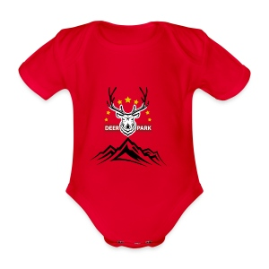 Deer Park - Organic Short-sleeved Baby Bodysuit