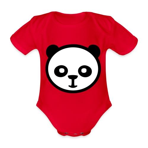 Panda, Panda gigante, Panda gigante, Orso di bambù - Body ecologico per neonato a manica corta