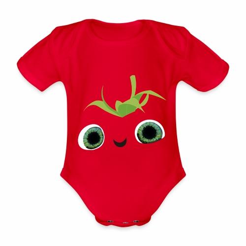 fresa tierna - Body orgánico de manga corta para bebé