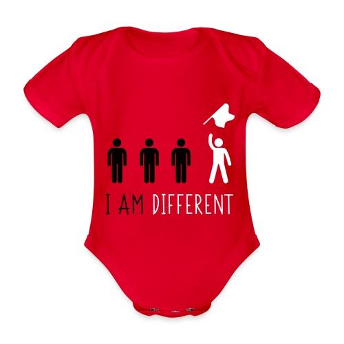 i am different sband - Body ecologico per neonato a manica corta