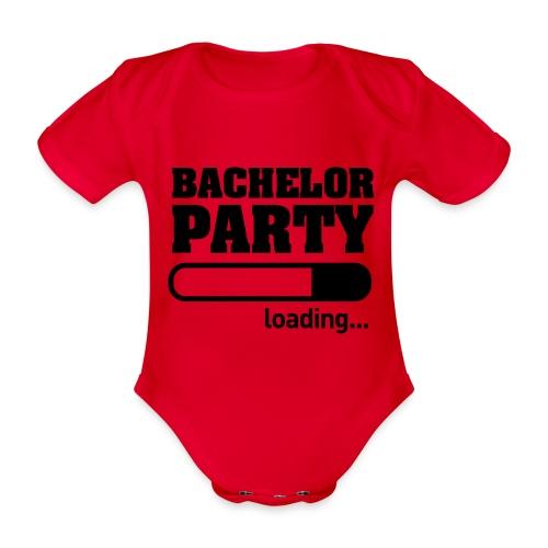 Bachelor Party Loading - Baby bio-rompertje met korte mouwen