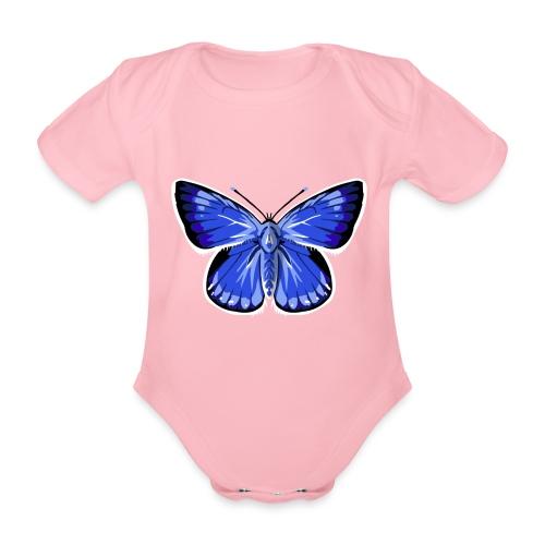 vlinder2_d - Baby bio-rompertje met korte mouwen