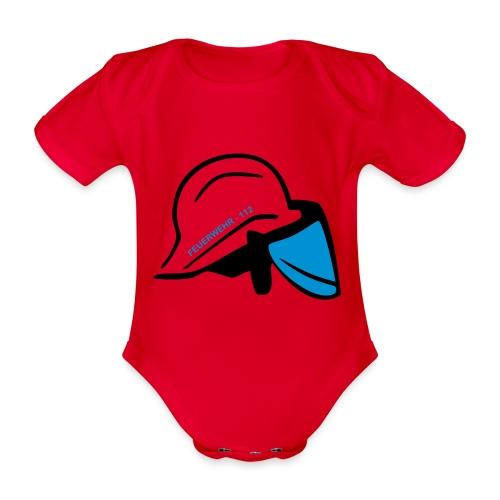 Feuerwehr Helm - Baby Bio-Kurzarm-Body
