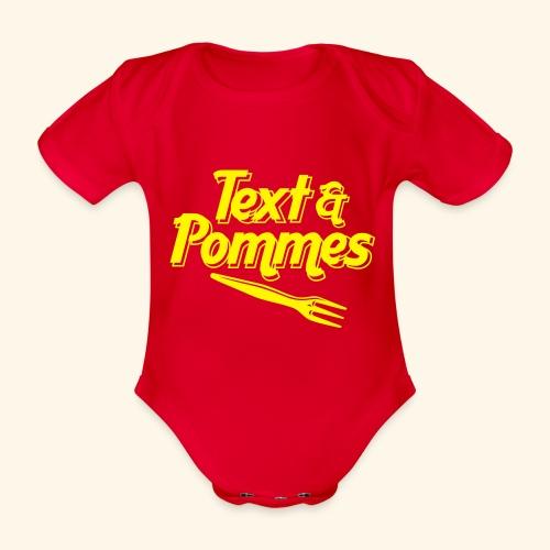 Text Pommes - Baby Bio-Kurzarm-Body