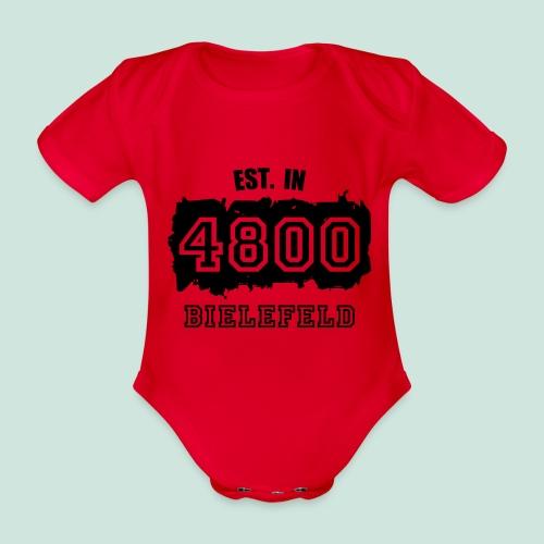 Bielefeld - Alte PLZ 4800 - Baby Bio-Kurzarm-Body