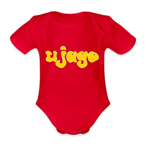 ujago gelb - Baby Bio-Kurzarm-Body