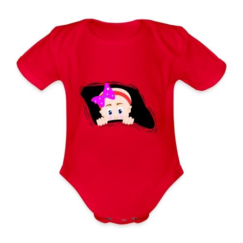 kiekeboo baby - Baby bio-rompertje met korte mouwen