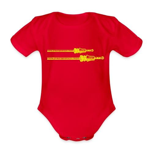 plug in png - Baby bio-rompertje met korte mouwen