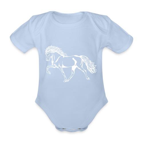 Weißer Tölter - Baby Bio-Kurzarm-Body