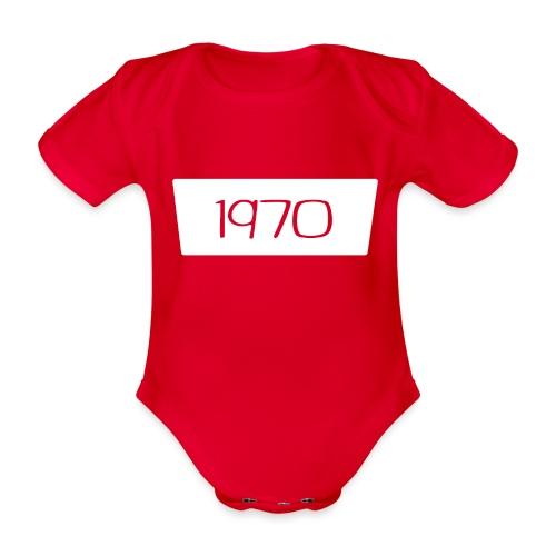 1970 - Baby bio-rompertje met korte mouwen