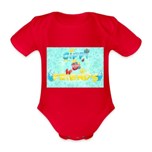 Tazza Cippi & Friends - Body ecologico per neonato a manica corta