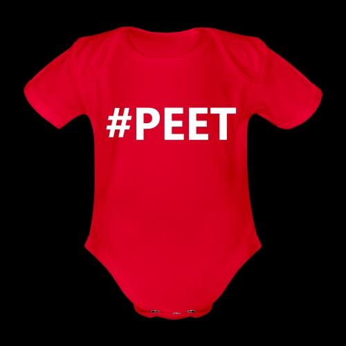 #PEET NO BOX - Baby bio-rompertje met korte mouwen