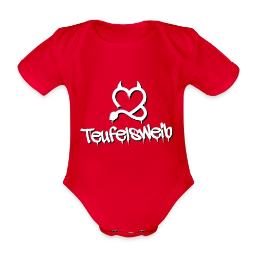 Teufelsweib - Baby Bio-Kurzarm-Body