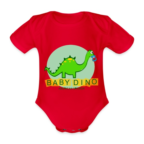 American Spanish Baby Dino - Body orgánico de maga corta para bebé
