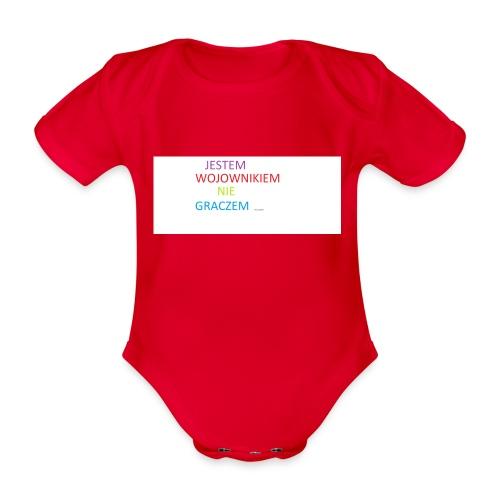 kim jesteś - Ekologiczne body niemowlęce z krótkim rękawem