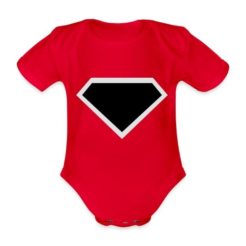 Diamond Black - Two colors customizable - Baby bio-rompertje met korte mouwen