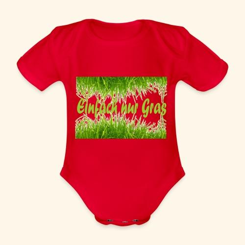 einfach nur gras2 - Baby Bio-Kurzarm-Body