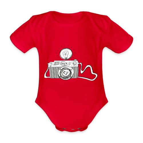 S33 camera-smile - Baby Bio-Kurzarm-Body