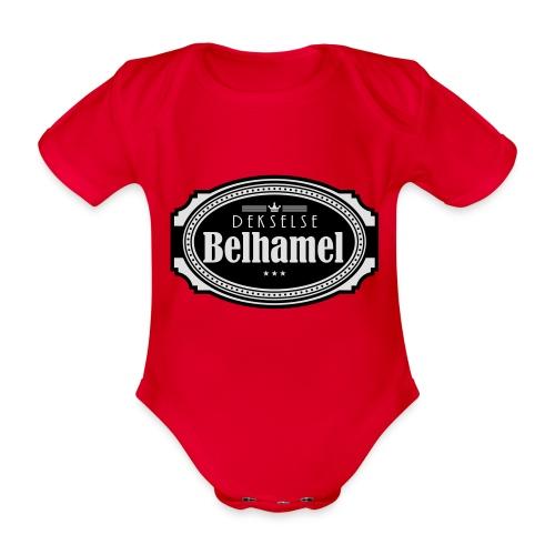 Dekselse belhamel - Baby bio-rompertje met korte mouwen