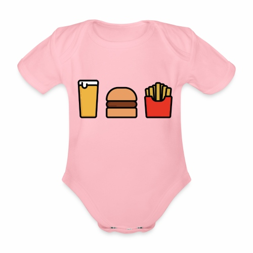 Meal Deal - Organic Short-sleeved Baby Bodysuit