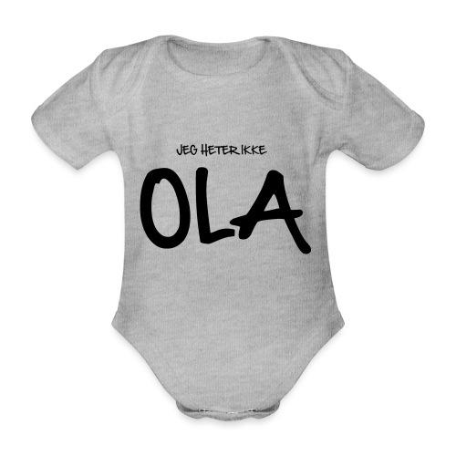 Jeg heter ikke Ola (fra Det norske plagg) - Økologisk kortermet baby-body