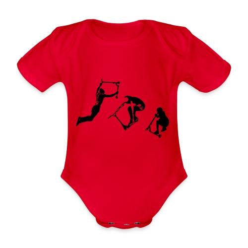 Stunt Scooter in Action Kickflip Freerider - Baby Bio-Kurzarm-Body