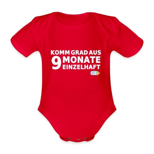 9monateeinzelhaft limited white png - Baby Bio-Kurzarm-Body