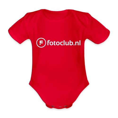 Logo Wit Fotoclublnl - Baby bio-rompertje met korte mouwen