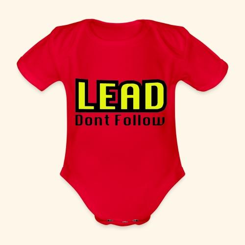 LEAD dont follow - Baby Bio-Kurzarm-Body