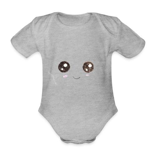 Kids for Kids: Smiling Face - Baby Bio-Kurzarm-Body