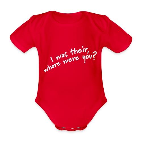 Dyslexic I was there - Baby bio-rompertje met korte mouwen