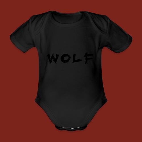 Wolf Font png - Baby bio-rompertje met korte mouwen