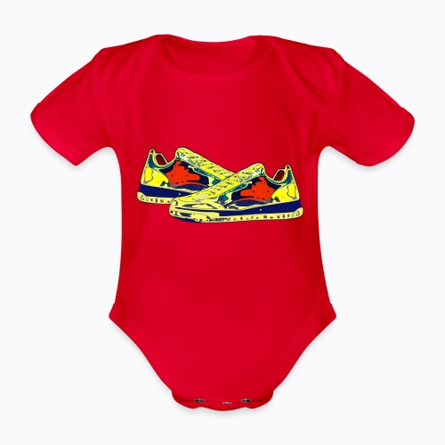 sneakers - Organic Short-sleeved Baby Bodysuit