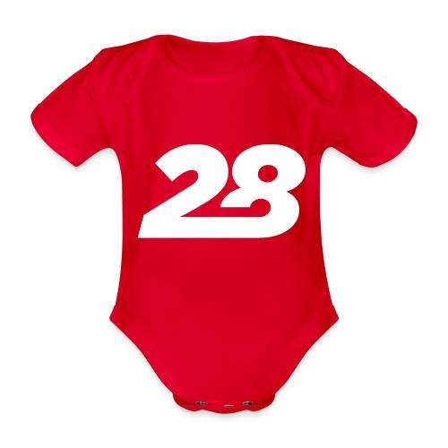 28 White - Organic Short-sleeved Baby Bodysuit