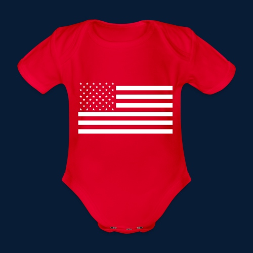Stars and Stripes White - Baby Bio-Kurzarm-Body