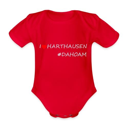 I ❤️ HARTHAUSEN #DAHOAM - Baby Bio-Kurzarm-Body