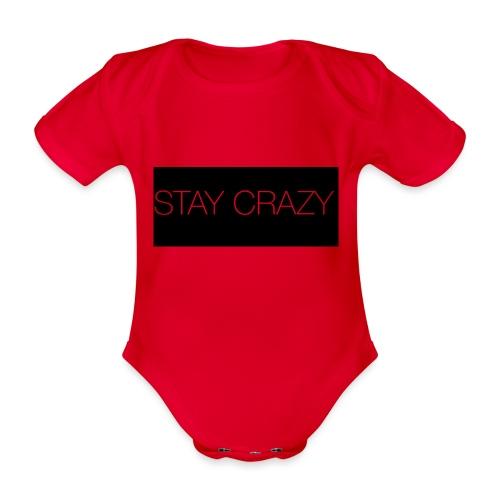 STAY CRAZY - Ekologisk kortärmad babybody