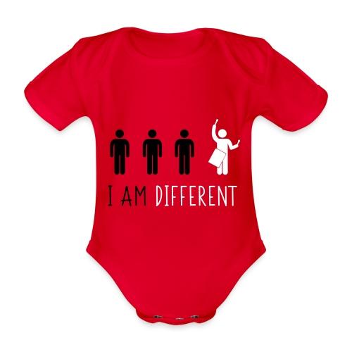 i am different tamb - Body ecologico per neonato a manica corta
