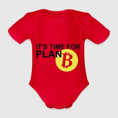 Bitcoin Plan B - Ekologiczne body niemowlęce z krótkim rękawem