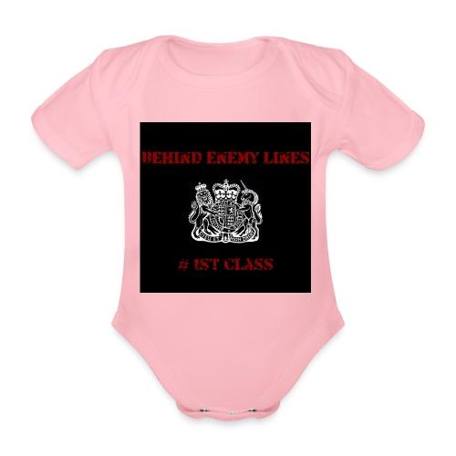 Front - Organic Short-sleeved Baby Bodysuit