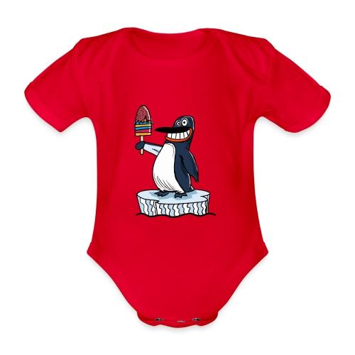 Funny Penguin Icecream Kids Smile: Penguin Ice - Body ecologico per neonato a manica corta