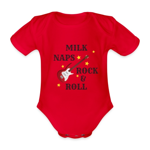 Rock & Roll - Organic Short-sleeved Baby Bodysuit