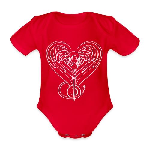 Sphinx valentine white - Organic Short-sleeved Baby Bodysuit