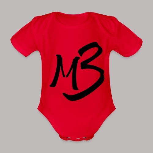 MB13 logo - Organic Short-sleeved Baby Bodysuit