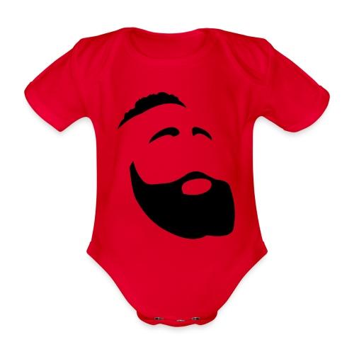 Il Barba, the Beard black - Body ecologico per neonato a manica corta