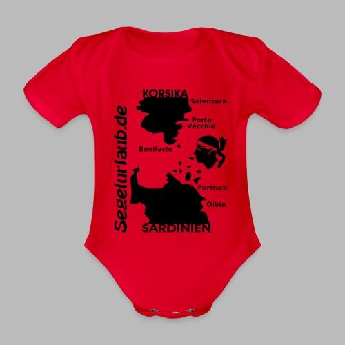 Korsika Sardinien Mori Shirt - Baby Bio-Kurzarm-Body
