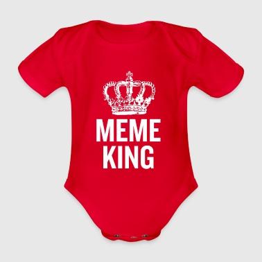 Meme King White - Organic Short-sleeved Baby Bodysuit
